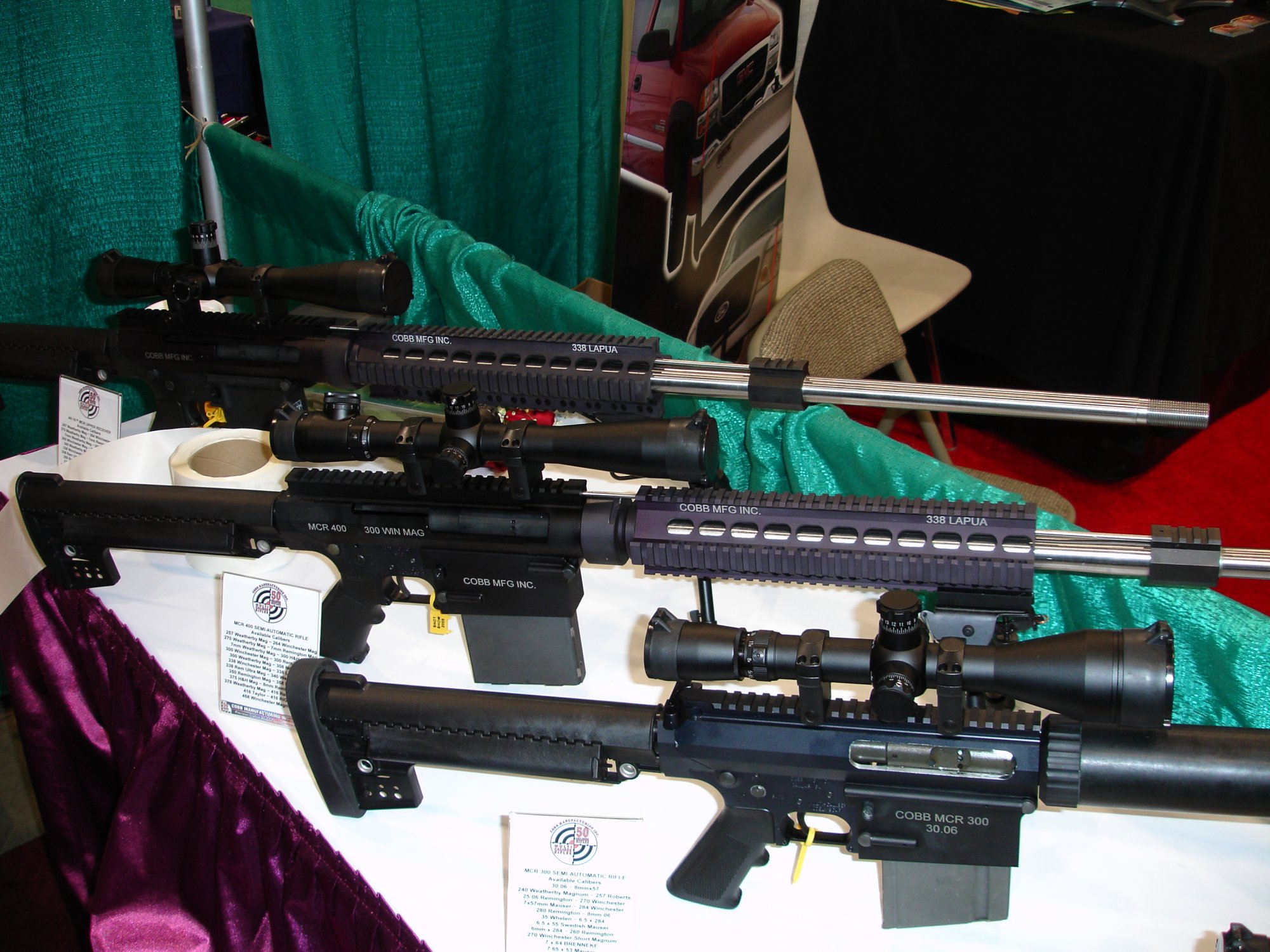 CobbMCR SCARprototype.30.06and.338Lapua 1 <!  :en  >Cobb SCAR Candidate/MCR Prototype Weapons at SHOT Show 2005<!  :  >