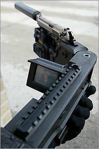 CornerShot 2 21 corner rifle <!  :en  >Corner Shot.  Cause You Never Know Whats Waiting for You Around the Corner.<!  :  >