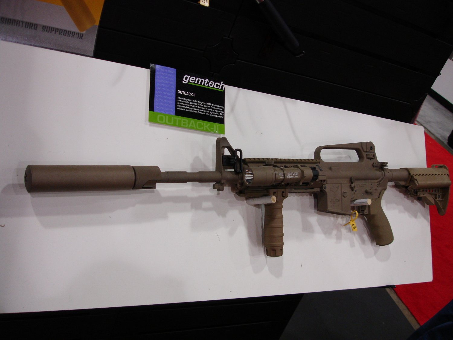 Gemtech 1 <!  :en  >SHOT Show Pics: Gemtech Sound and Signature Suppressors for Tactical Small Arms<!  :  >