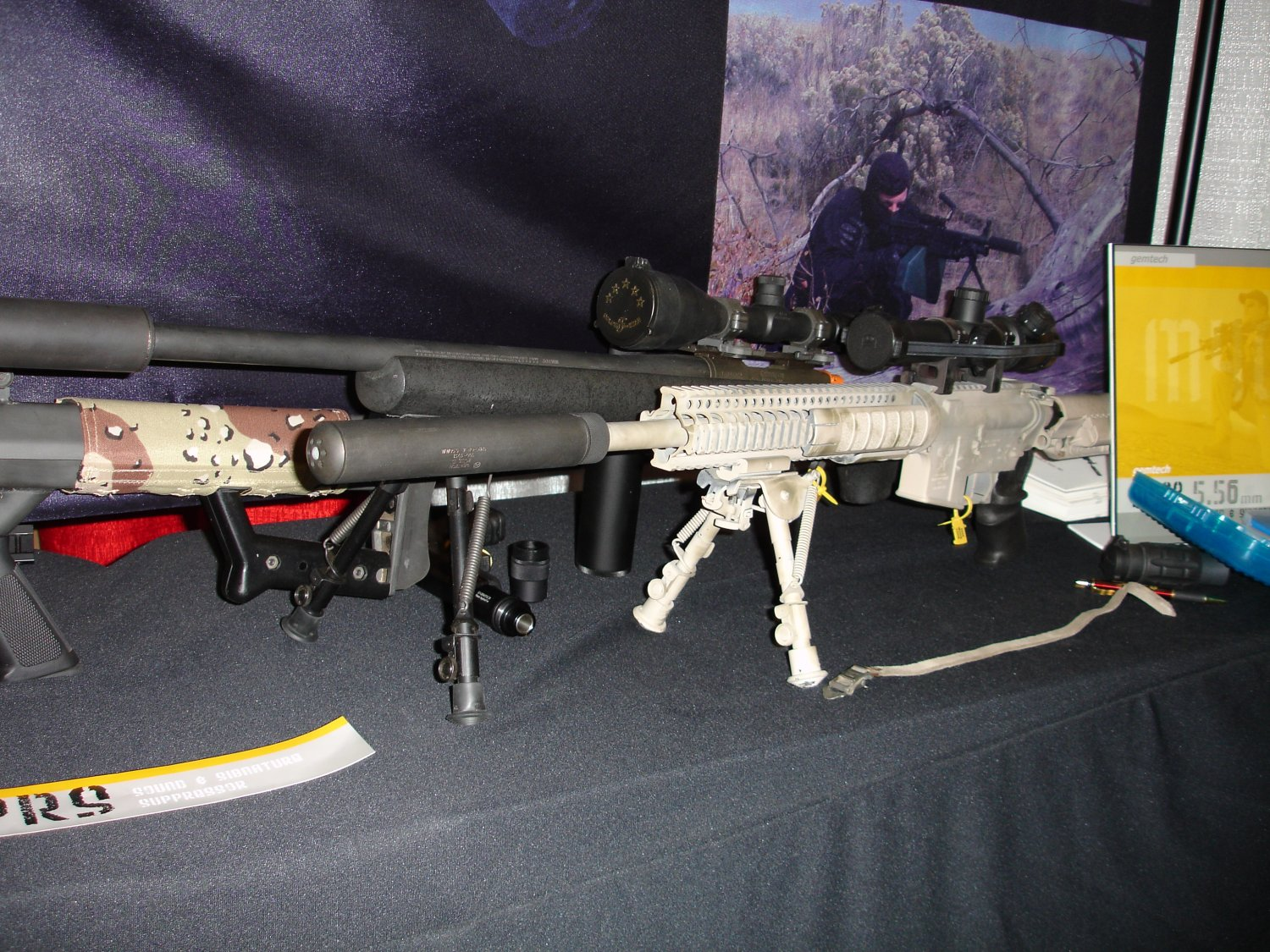 Gemtech 5 <!  :en  >SHOT Show Pics: Gemtech Sound and Signature Suppressors for Tactical Small Arms<!  :  >