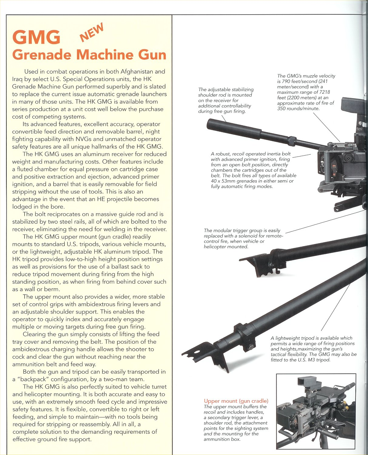 HK%20Grenade%20Machine%20Gun%20%28GMG%29 HK%20Defense%20Catalogue 1 <!  :en  >HK GMG (Grenade Machine Gun) Pics from SOF Week 2005/APBI<!  :  >