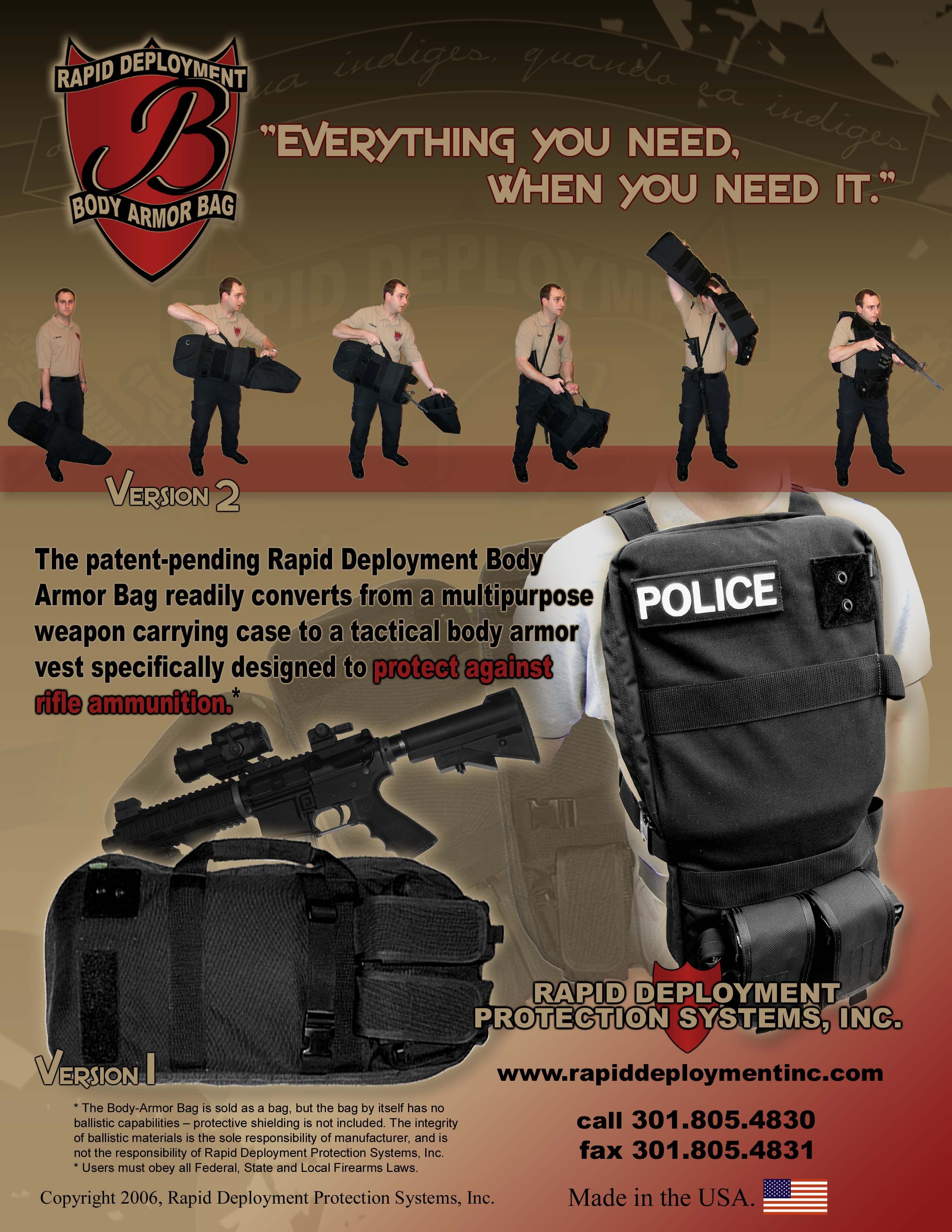 BIG FLYER 300 <!  :en  >Rapid Deployment Body Armor Bag: From Rifle Bag to Body Armor in Seconds<!  :  >