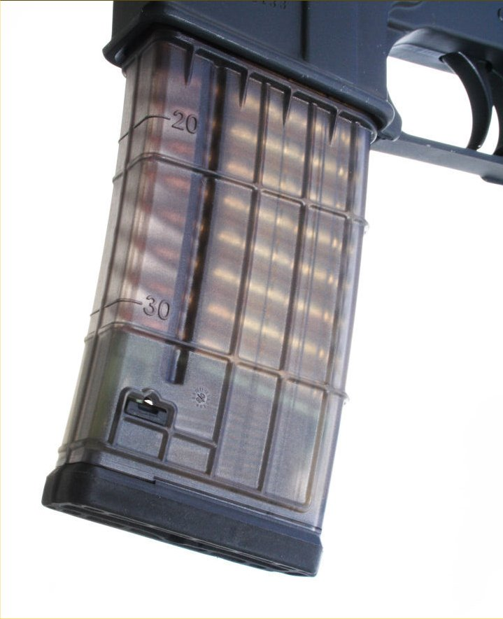 Lancer Systems L5 Translucent Magazine 2 <!  :en  >Lancer Systems L5 Translucent Polymer 30 Round Magazine for Tactical ARs<!  :  >