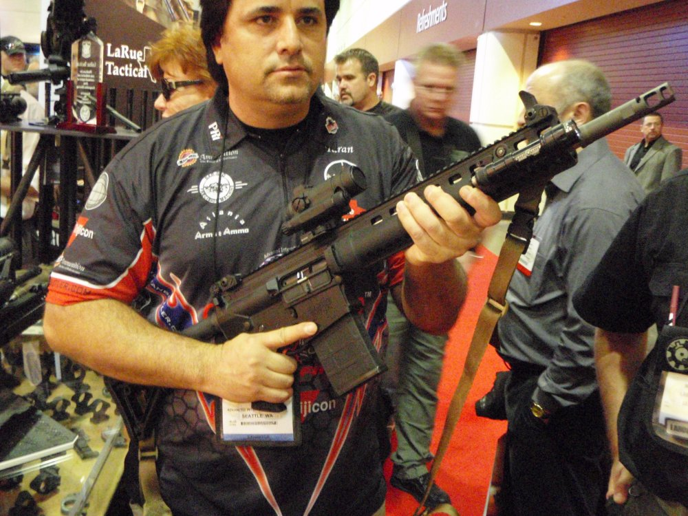 LaRue Stealth OSR SHOT Show 2009 1 <!  :en  >LaRue Tactical 7.62mm Stealth OSR (Optimized Sniper Rifle) at SHOT Show 2009<!  :  >