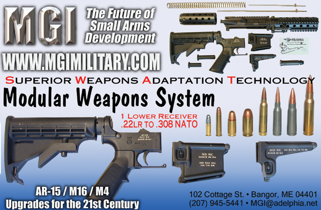 MGIProof %20blue%20with%20ammo <!  :en  >MGI Hydra QCB Modular/Multi Caliber AR Weapons System for SPECOPS<!  :  >