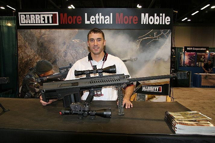 Arms%20at%20NDIA%20Small%20Arms%20Symposium Barrett%20XM500 1 <!  :en  >Barrett Firearms Introduces XM500 Bullpup Semi Auto .50 BMG Anti Materiel/Sniper Rifle<!  :  >