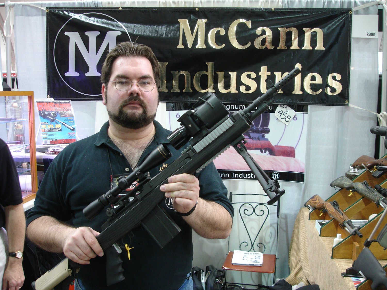 McCannIndustriesCarbonFiberM14Stock 1 SHOT Show 2008 2 03 08 <!  :en  >McCann Industries Ultra Lightweight Carbon Fiber M14/M1A Rifle/Carbine Chassis<!  :  >
