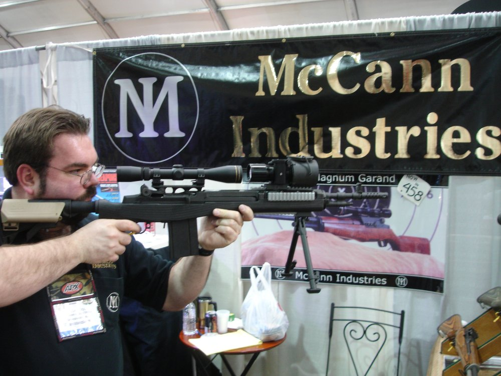 McCannIndustriesCarbonFiberM14Stock 4 SHOT Show 2008 2 03 08 <!  :en  >McCann Industries Ultra Lightweight Carbon Fiber M14/M1A Rifle/Carbine Chassis<!  :  >