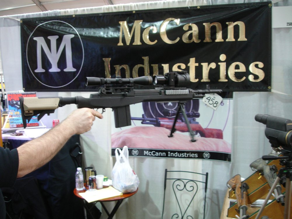 McCannIndustriesCarbonFiberM14Stock 5 SHOT Show 2008 2 03 08 <!  :en  >McCann Industries Ultra Lightweight Carbon Fiber M14/M1A Rifle/Carbine Chassis<!  :  >