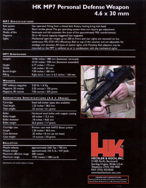 MP7 4copy <!  :en  >HK MP7 PDW. Serious Compact Firepower<!  :  >