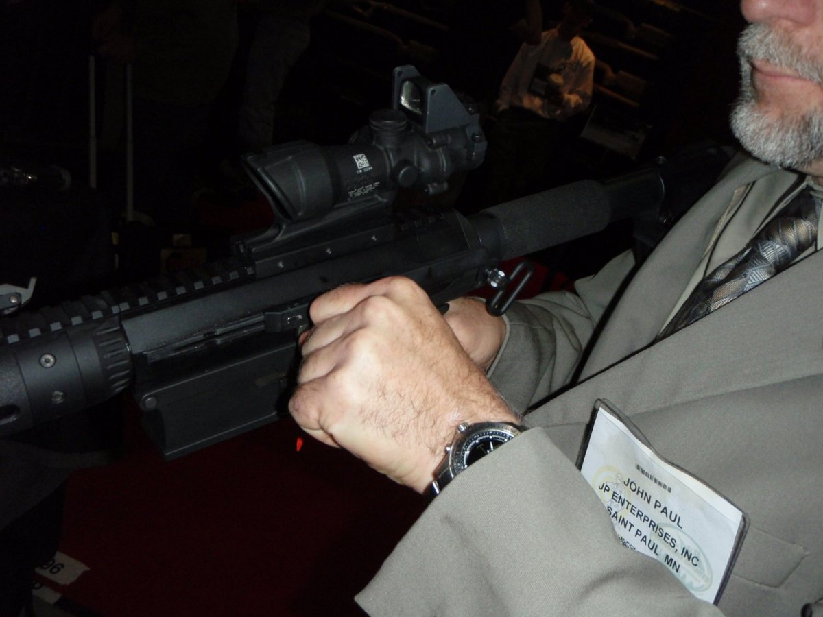 JP Enterprise Side Charging Handle SHOT Show 2009 5 <!  :en  >JP LRP 07 Long Range Precision Rifle 7.62mm with Left Side Charging System<!  :  >