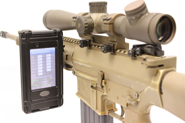 KAC M110 with BulletFlight 1 <!  :en  >KAC BulletFlight Sniper App for M110 SASS Mounted iPhone or iPod Touch<!  :  >
