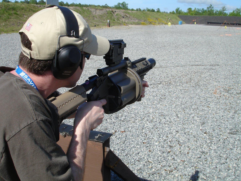 Milkor USA M32 MGL 40mm Multi-Shot Grenade Launcher Range