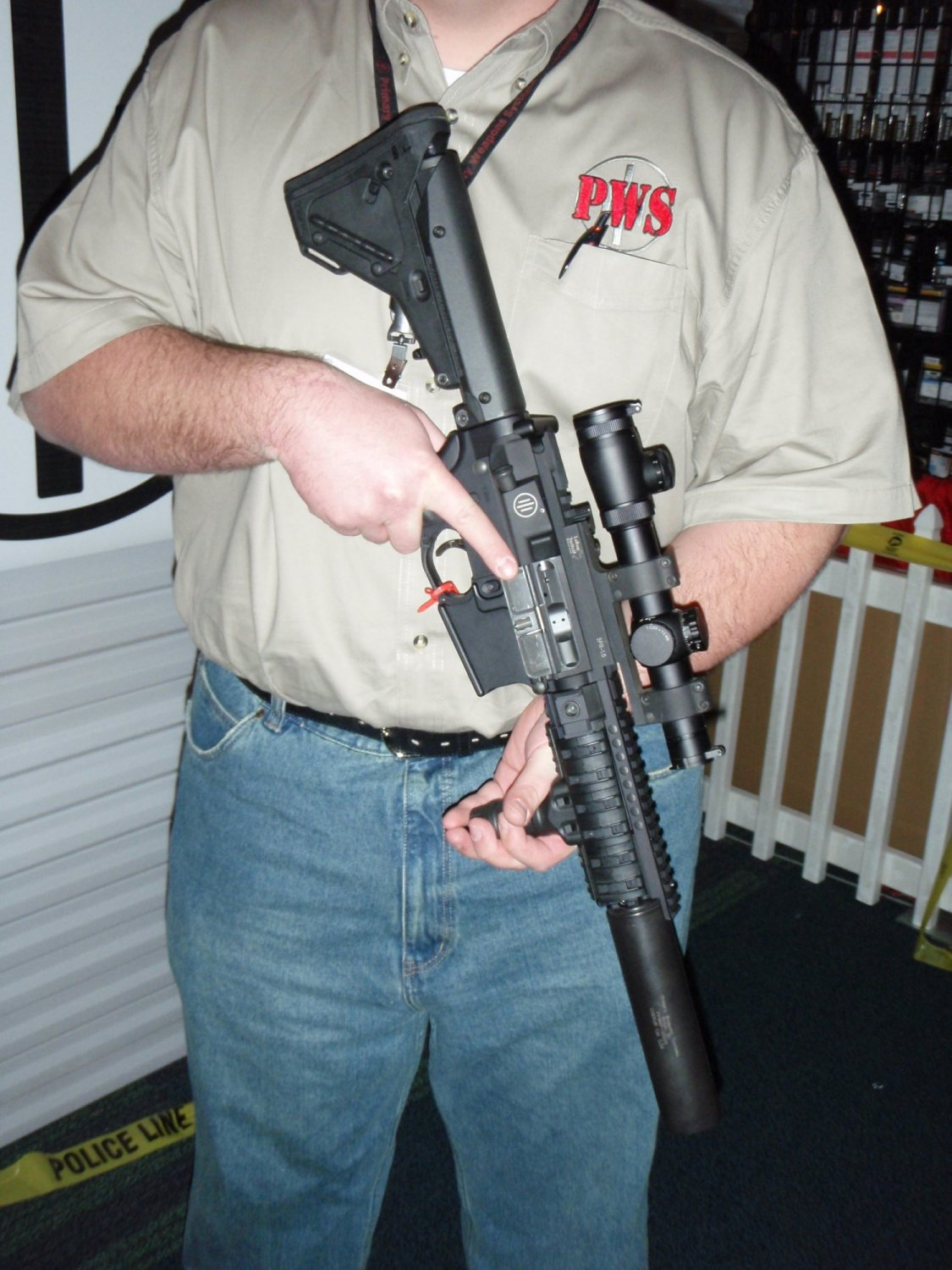 PWS Gas Piston SBR Suppressed SHOT Show 2009 1 <!  :en  >PWS Diablo Long Stroke Gas Piston/Op Rod Driven 5.56mm AR 15 SBR Upper Receiver<!  :  >