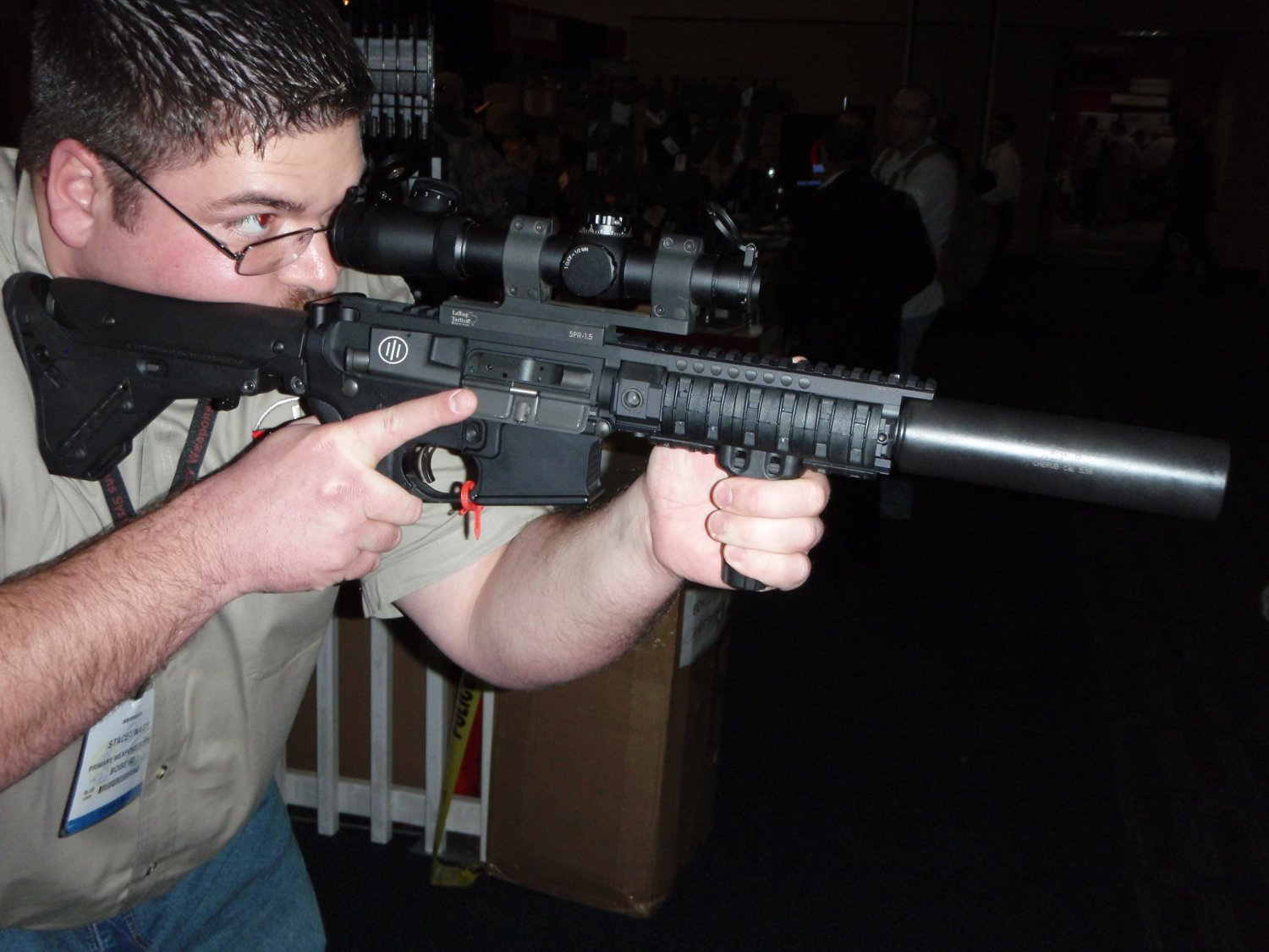 PWS Gas Piston SBR Suppressed SHOT Show 2009 2 <!  :en  >PWS Diablo Long Stroke Gas Piston/Op Rod Driven 5.56mm AR 15 SBR Upper Receiver<!  :  >