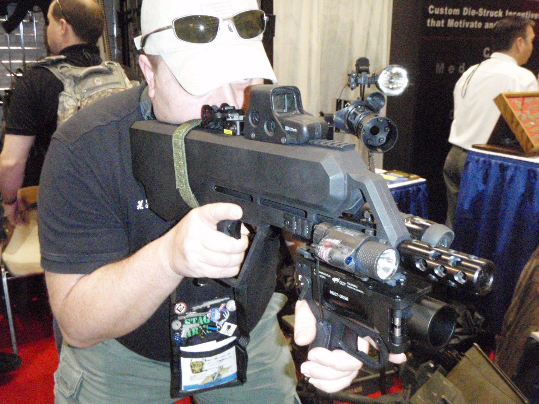 Gun 2 p3 strafer mk4 mod 0 less lethal machine gun weapon system