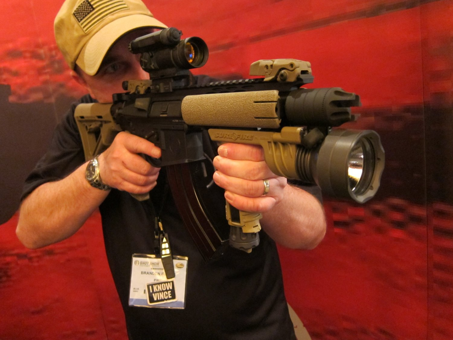 shot show 2010 primary weapons systems pws 762x39mm russian ar sbr 1 <!  :en  >PWS Diablo 7.62x39mm Russian: 7 Barreled Long Stroke Gas Piston/Op Rod AR (AR 15) SBR/Complete Upper Receiver Assembly<!  :  >