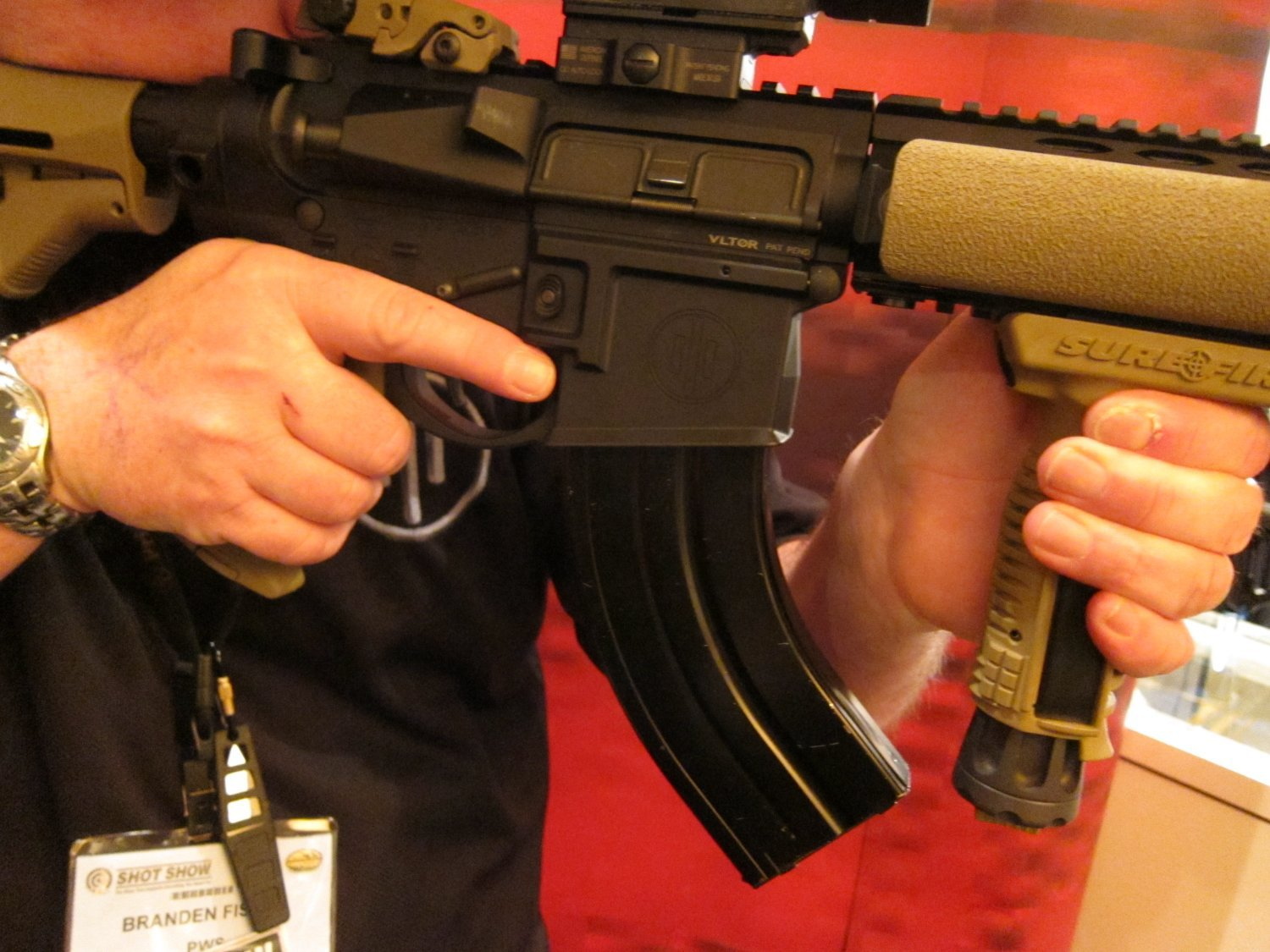 shot show 2010 primary weapons systems pws 762x39mm russian ar sbr 2 <!  :en  >PWS Diablo 7.62x39mm Russian: 7 Barreled Long Stroke Gas Piston/Op Rod AR (AR 15) SBR/Complete Upper Receiver Assembly<!  :  >