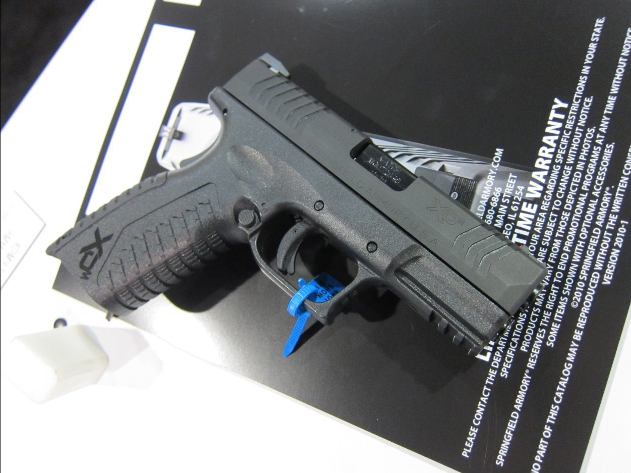 SHOT Show 2010 Springfield Armory XDM 9 3.8 Compact Pistol 2 Rotated <!  :en  >Springfield Armory XDM 9 3.8 Short Barrel High Capacity Compact 9mm Pistol for Concealed Carry (CCW): 20 (19+1) Rounds of Immediate Firepower!<!  :  >