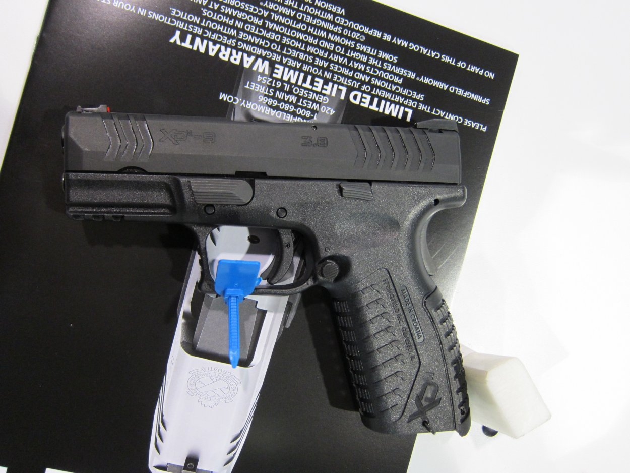 SHOT Show 2010 Springfield Armory XDM 9 3.8 Compact Pistol 8 <!  :en  >Springfield Armory XDM 9 3.8 Short Barrel High Capacity Compact 9mm Pistol for Concealed Carry (CCW): 20 (19+1) Rounds of Immediate Firepower!<!  :  >