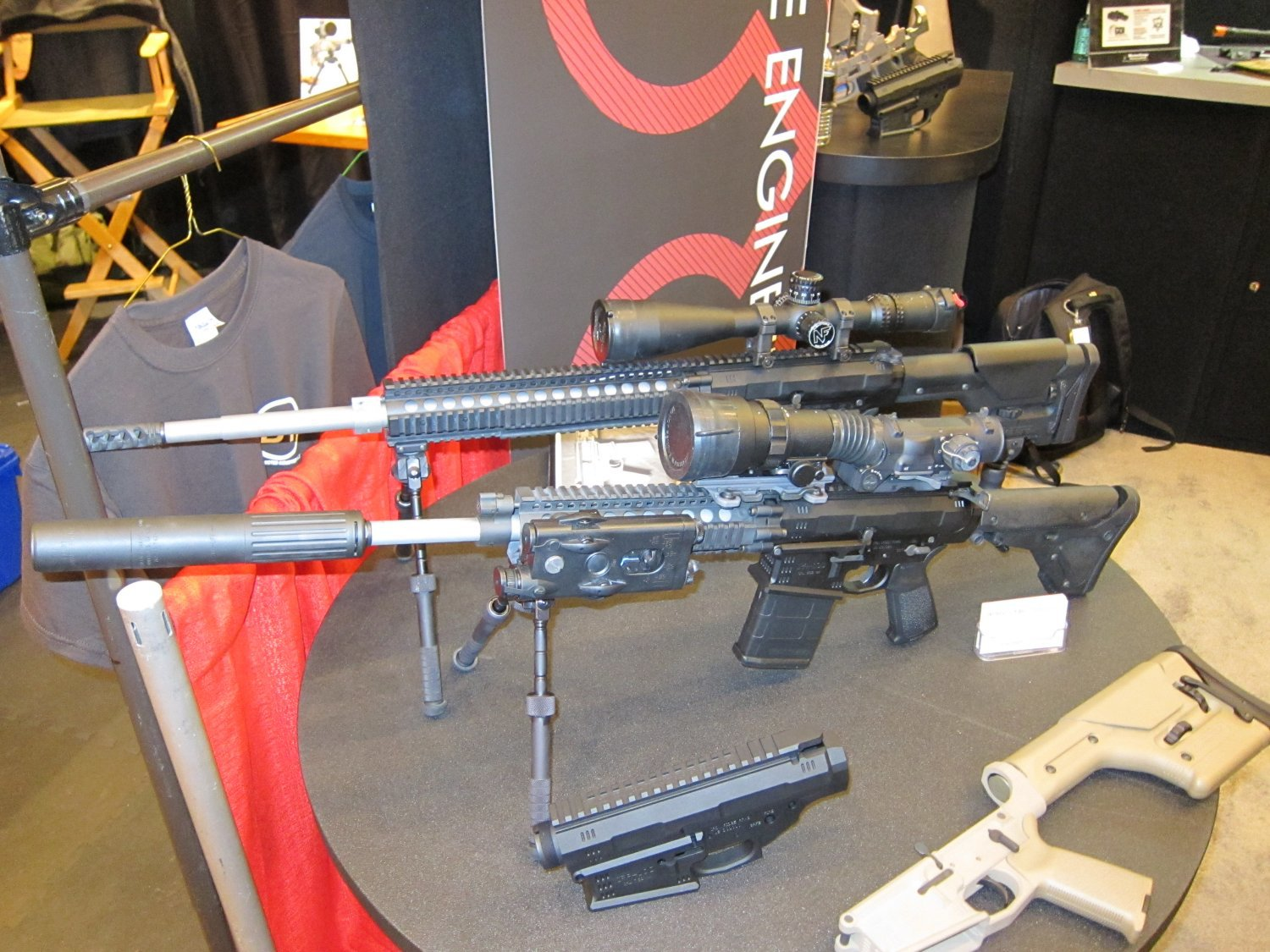 SHOT Show 2010 Iron Ridge Arms IRA 7.62mm AR Rifle Carbine 1 <!  :en  >Iron Ridge Arms IRA X (formerly IRA 10) Complete Sniper Rifle/Battle Rifle: This time, Thors hammer takes the form a 7.62mm/.308 tactical AR sniper rifle/carbine.<!  :  >
