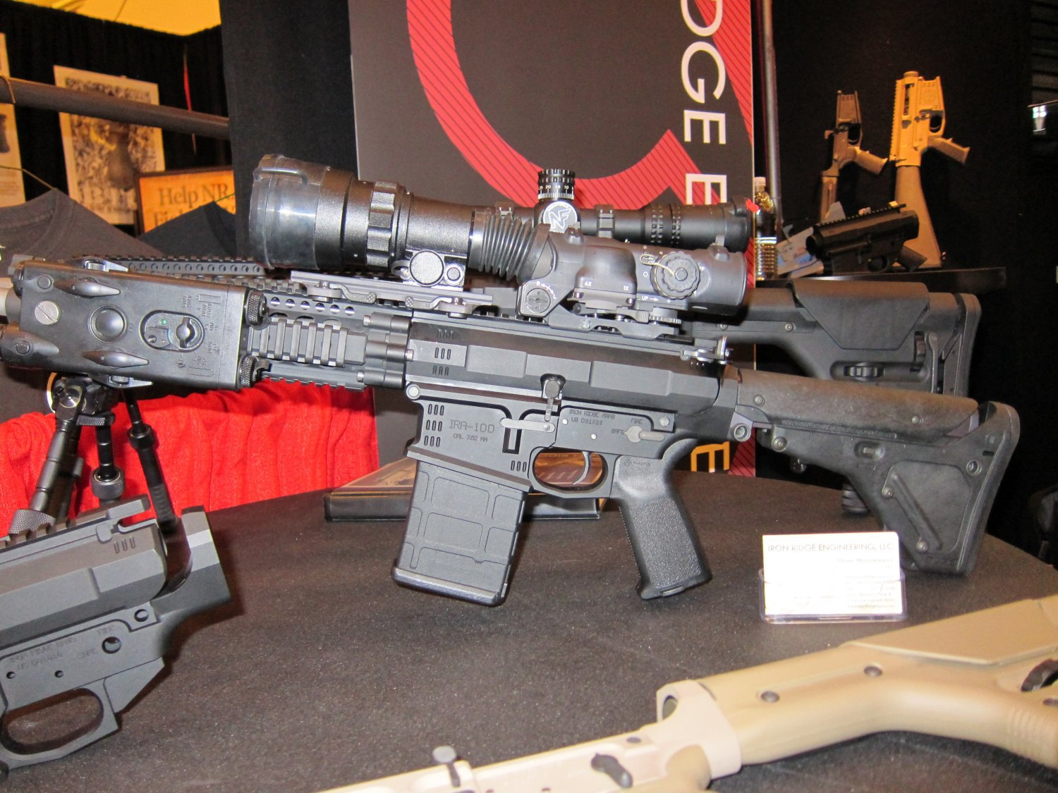 SHOT Show 2010 Iron Ridge Arms IRA 7.62mm AR Rifle Carbine 2 <!  :en  >Iron Ridge Arms IRA X (formerly IRA 10) Complete Sniper Rifle/Battle Rifle: This time, Thors hammer takes the form a 7.62mm/.308 tactical AR sniper rifle/carbine.<!  :  >