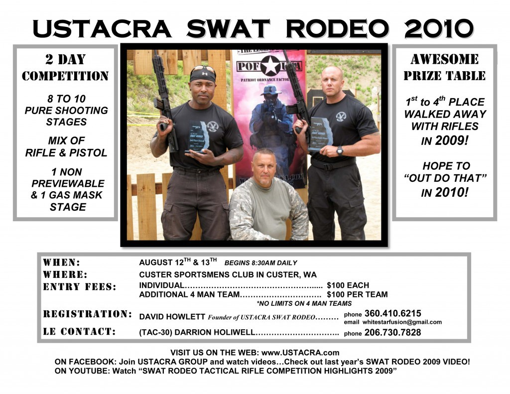 SRflyer clrfxdoc 1024x791 <!  :en  >USTACRA SWAT Rodeo Tactical Shooting Competition Being Held on August 12 13, 2010!<!  :  >