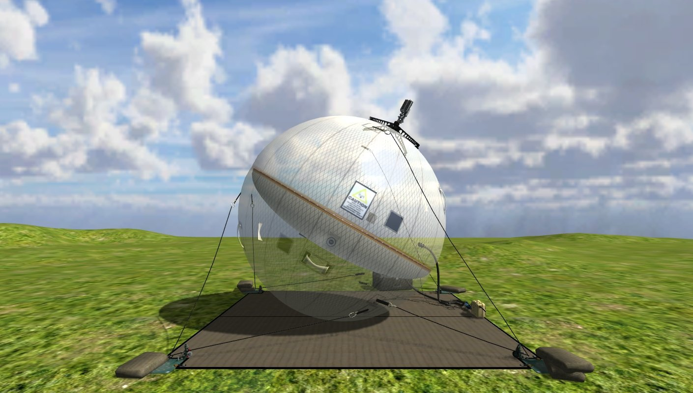 GATR Beach Ball SATCOM Internal <!  :en  >GATR Technologies Ultra Transportable Beach Ball Style C band Inflatable Satellite Communications (SATCOM) Antenna Systems: Tactical Communications for Military Special Operations (SPECOPS) in Adverse Conditions<!  :  >