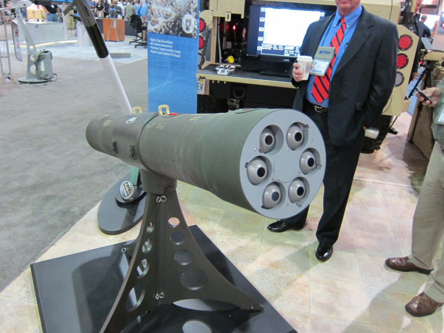 <!--:en-->Northrop Grumman/ATK VENOM Targeting Pod Armed with 6-Round GATR-L Tactical Precision-Guided (Laser-Guided) 2.75″/70mm Hydra Rocket Pod for Military Special Operations (SPECOPS)<!--:-->