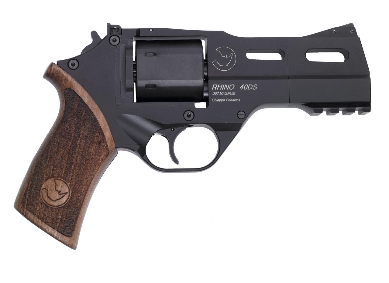 Rhino Revolver Black 4 inch Barrel Chiappa Firearms 1 <!  :en  >Chiappa Rhino 6 Shot .357 Magnum Revolver for Concealed Carry (CCW) Applications<!  :  >