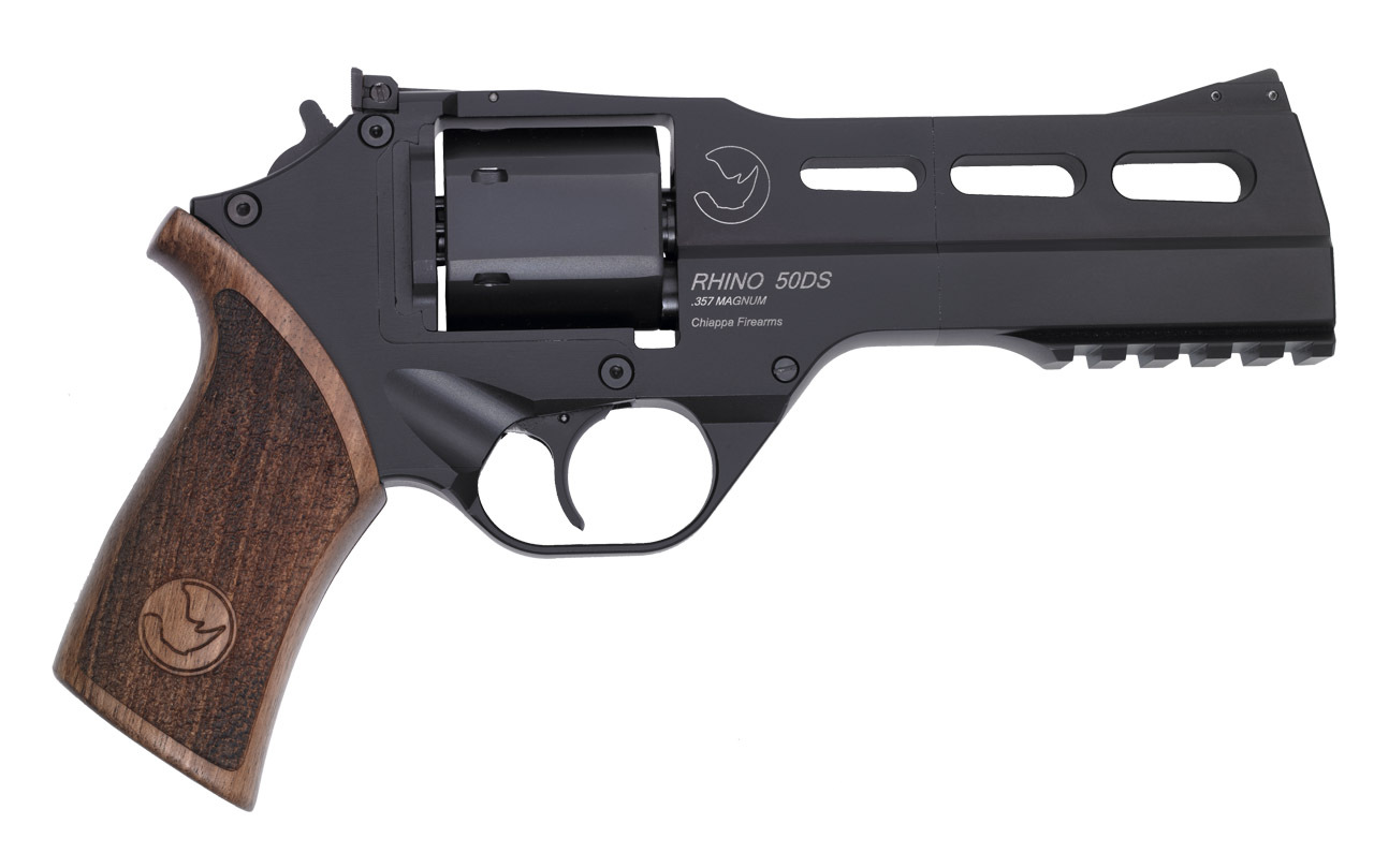 Rhino Revolver Black 5 inch Barrel Chiappa Firearms 1 <!  :en  >Chiappa Rhino 6 Shot .357 Magnum Revolver for Concealed Carry (CCW) Applications<!  :  >