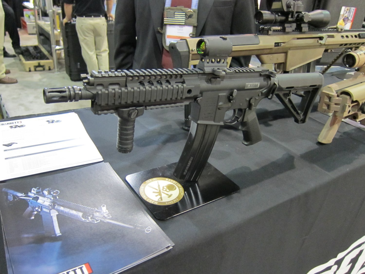 Barrett REC7 5.56mm AR SBR 22 Barrett REC7 5.56 8 Piston AR PDW Displayed at SOFIC 2010 (Photos!): 5.56mm NATO Piston Driven Tactical AR Carbine/SBR for Military Special Operations Forces (SOF)