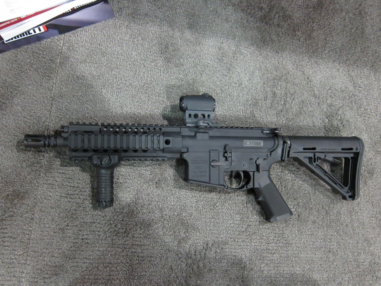 Barrett REC7 5.56mm AR SBR 9 Barrett REC7 5.56 8 Piston AR PDW Displayed at SOFIC 2010 (Photos!): 5.56mm NATO Piston Driven Tactical AR Carbine/SBR for Military Special Operations Forces (SOF)
