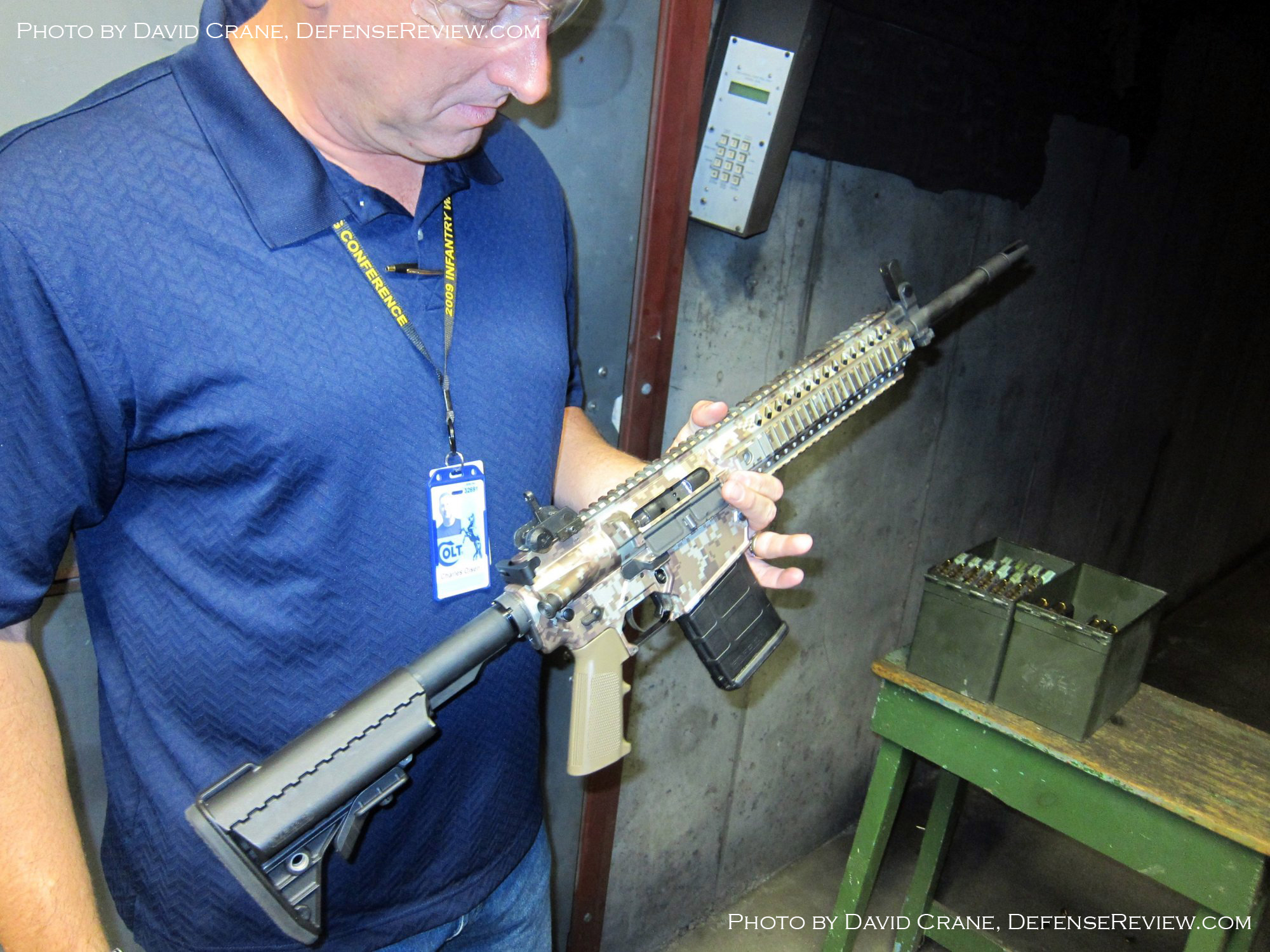 Colt CM901 Chuck Olsen David Crane DefenseReview.com 3 Small <!  :en  >DR Exclusive First Look!: SCAR Who? Meet the Colt Modular Carbine (CMC) Model CM901 Multi Caliber 7.62mm NATO Battle Rifle / 5.56mm NATO Assault Rifle for U.S. Military Special Operations Forces (SOF) and General Infantry Forces (GIF). DefenseReview (DR) Reports (Photos and Video!) <!  :  >
