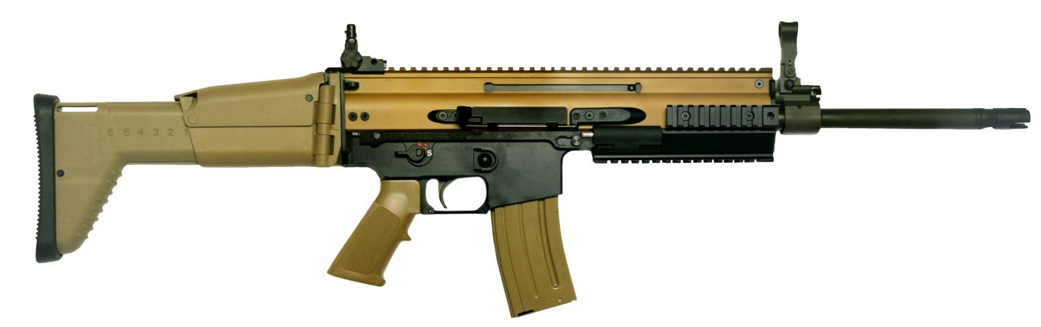 FN HAMR 16 Rifle Carbine 1 small <!  :en  >FN HAMR (Heat Adaptive Modular Rifle) Introduced at AUSA 2010: FN SCAR Meets IAR (Infantry Automatic Rifle).  FN MK16 SCAR L goes open bolt for sustained full auto fire capability. <!  :  >