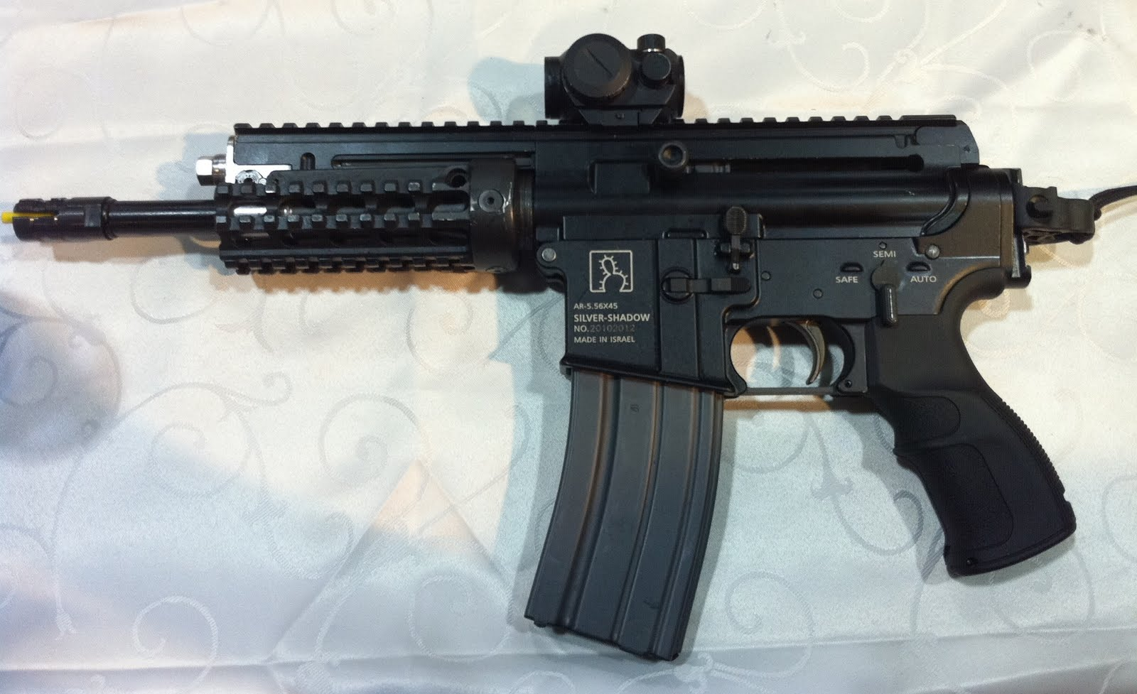 Silver Shadow Gilboa Select Fire 5.56mm Tactical AR Pistol 3 <!  :en  >Silver Shadow Gilboa APR (Assault Pistol Rifle) Select Fire Tactical AR (AR 15) PDW/SBR/Pistol for Military Special Operations (SPECOPS) Applications<!  :  >