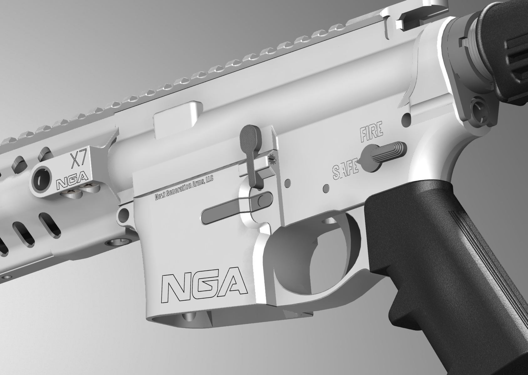 Next Generation Arms NGA X7 Tactical AR Carbine 1 <!  :en  >Next Generation Arms (NGA) X7 Mid Length Tactical AR Rifle/Carbine/SBR with Advanced Ceramic Technology (ACT) Self Lubricating and Protective Internal and External Ceramic Coating Tech (Video!)<!  :  >