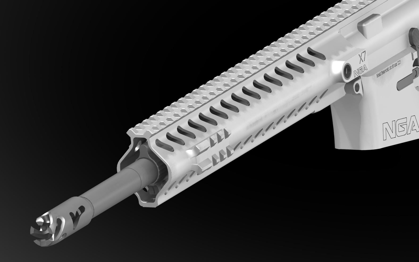 Next Generation Arms NGA X7 Tactical AR Carbine 2 <!  :en  >Next Generation Arms (NGA) X7 Mid Length Tactical AR Rifle/Carbine/SBR with Advanced Ceramic Technology (ACT) Self Lubricating and Protective Internal and External Ceramic Coating Tech (Video!)<!  :  >