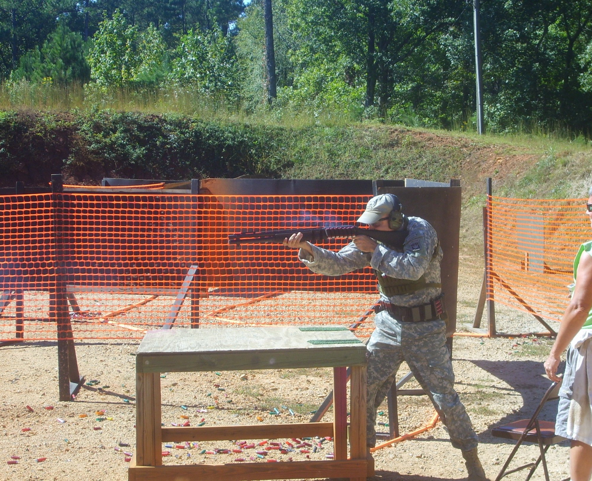 Jeff Gurwitch Representing 1st SWTG 2009 Area 6 Multi Gun Shotgun 1 small <!  :en  >Military Marksmanship Training Versus Competitive Shooting Training: The Matchup<!  :  >