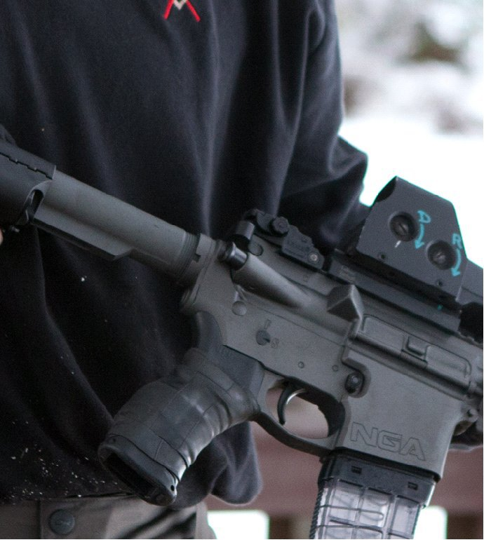 Next Generation Arms NGA X7 Tactical AR Carbine Lower Receiver and Internally Flared Magwell External 1 <!  :en  >Shooting the Gray Rifle: Next Generation Arms (NGA) X7 Ceramic Coated Mid Length Tactical AR Carbine/Rifle 3200 Round Test Report (Photos and Video!)<!  :  >