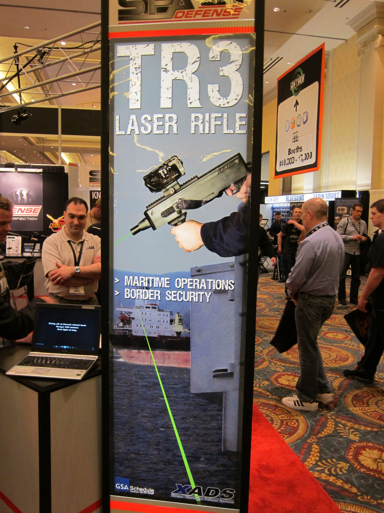 XADS TR3 Laser Rifle for Ship Defense 15 <!  :en  >SPA Defense/XADS TR3 Laser Rifle for Ship Defense/Anti Piracy Operations: Hit em with the Big Green Laser Beam!<!  :  >