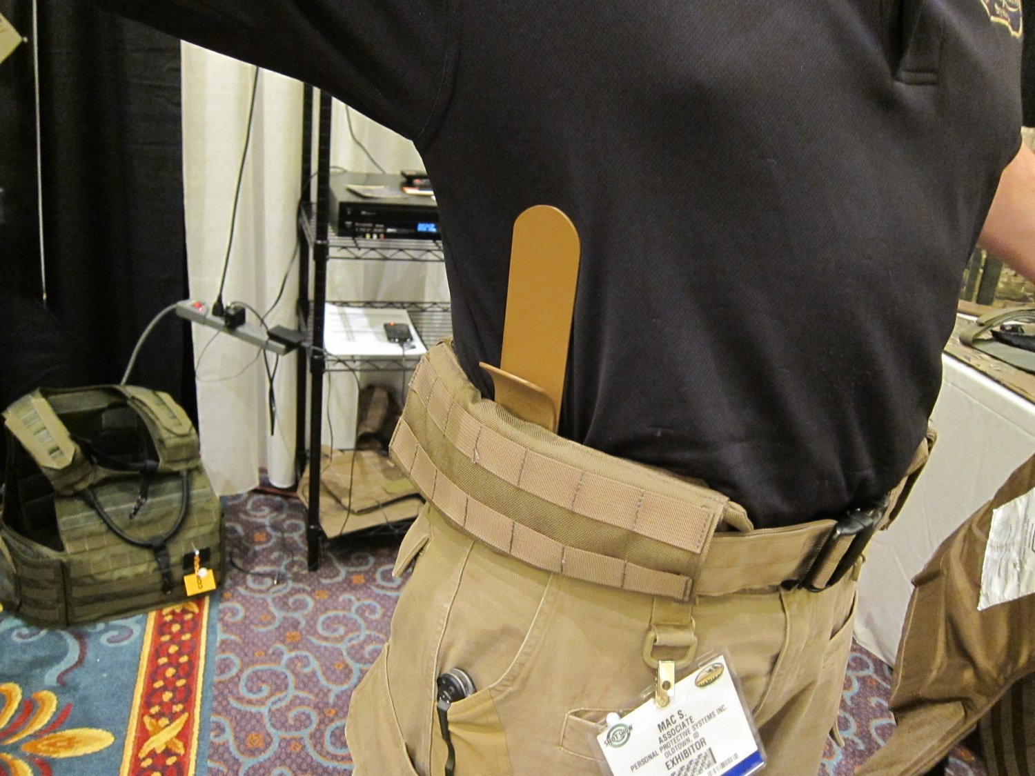 P2 Systems P2Sys Centurion Amour Integra Belt Battle Belt with Integral Armor Waist Supports Plastic Stays at SHOT Show 2011 3 <!  :en  >Hardpoint Equipment Tactical Armor Carriers (formerly Personal Protective Systems, or P2 Systems): Best Tactical Body Armor Plate Carriers on the Planet? DR Looks at the Latest Hard Point Hard Armor Plate Carriers, Battle Belt, MOLLE Backpack System, and Passive Ventilation Channels/Removable Padding System at SHOT Show 2011 (Photos and Video!) <!  :  >