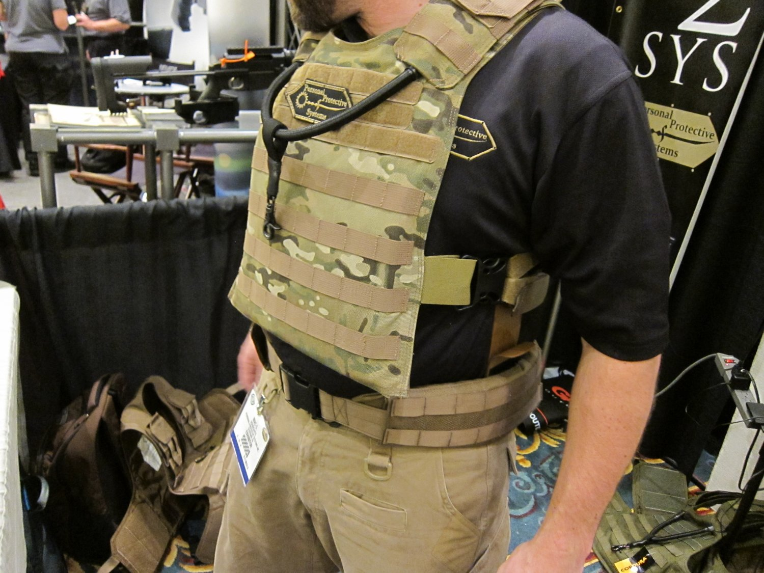 P2 Systems P2Sys Centurion Armour Hastati I Plate Carrier with Integra Sling at SHOT Show 2011 3 <!  :en  >Hardpoint Equipment Tactical Armor Carriers (formerly Personal Protective Systems, or P2 Systems): Best Tactical Body Armor Plate Carriers on the Planet? DR Looks at the Latest Hard Point Hard Armor Plate Carriers, Battle Belt, MOLLE Backpack System, and Passive Ventilation Channels/Removable Padding System at SHOT Show 2011 (Photos and Video!) <!  :  >