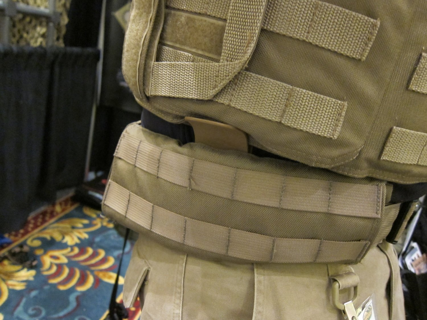 P2 Systems P2Sys Centurion Armour Integra Belt Battle Belt with Integral Armor Waist Supports Plastic Stays at SHOT Show 2011 6 <!  :en  >Hardpoint Equipment Tactical Armor Carriers (formerly Personal Protective Systems, or P2 Systems): Best Tactical Body Armor Plate Carriers on the Planet? DR Looks at the Latest Hard Point Hard Armor Plate Carriers, Battle Belt, MOLLE Backpack System, and Passive Ventilation Channels/Removable Padding System at SHOT Show 2011 (Photos and Video!) <!  :  >