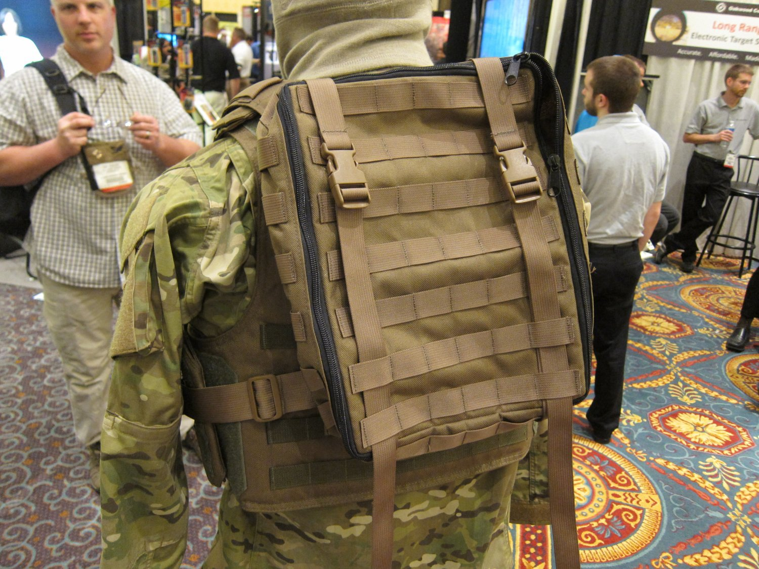 P2 Systems P2Sys Centurion Armour Maniple I Body Armor Carrier Tactical Vest with Integra Pack at SHOT Show 2011 3 <!  :en  >Hardpoint Equipment Tactical Armor Carriers (formerly Personal Protective Systems, or P2 Systems): Best Tactical Body Armor Plate Carriers on the Planet? DR Looks at the Latest Hard Point Hard Armor Plate Carriers, Battle Belt, MOLLE Backpack System, and Passive Ventilation Channels/Removable Padding System at SHOT Show 2011 (Photos and Video!) <!  :  >