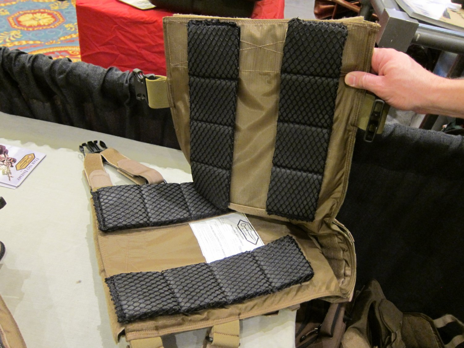 P2 Systems P2Sys Centurion Armour Modular Internal Pads for Body Armor Carrier Tactical Vests and Plate Carriers at SHOT Show 2011 2 <!  :en  >Hardpoint Equipment Tactical Armor Carriers (formerly Personal Protective Systems, or P2 Systems): Best Tactical Body Armor Plate Carriers on the Planet? DR Looks at the Latest Hard Point Hard Armor Plate Carriers, Battle Belt, MOLLE Backpack System, and Passive Ventilation Channels/Removable Padding System at SHOT Show 2011 (Photos and Video!) <!  :  >