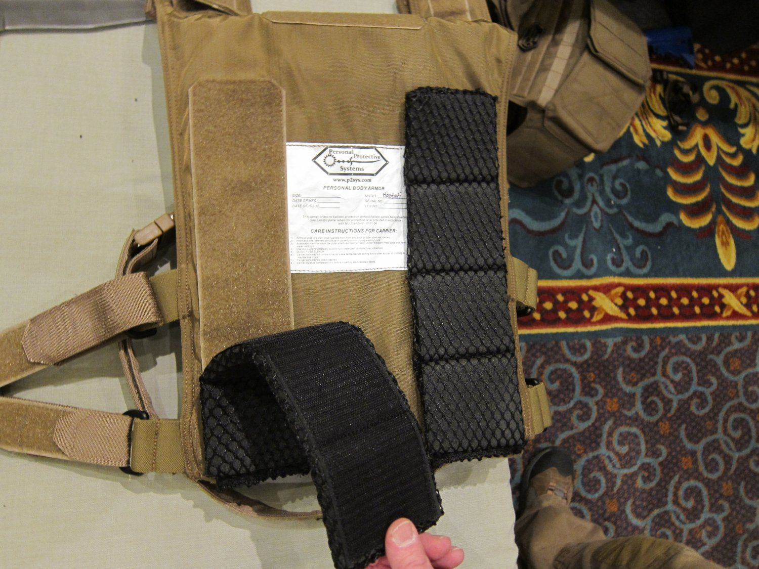 P2 Systems P2Sys Centurion Armour Modular Internal Pads for Body Armor Carrier Tactical Vests and Plate Carriers at SHOT Show 2011 4 <!  :en  >Hardpoint Equipment Tactical Armor Carriers (formerly Personal Protective Systems, or P2 Systems): Best Tactical Body Armor Plate Carriers on the Planet? DR Looks at the Latest Hard Point Hard Armor Plate Carriers, Battle Belt, MOLLE Backpack System, and Passive Ventilation Channels/Removable Padding System at SHOT Show 2011 (Photos and Video!) <!  :  >
