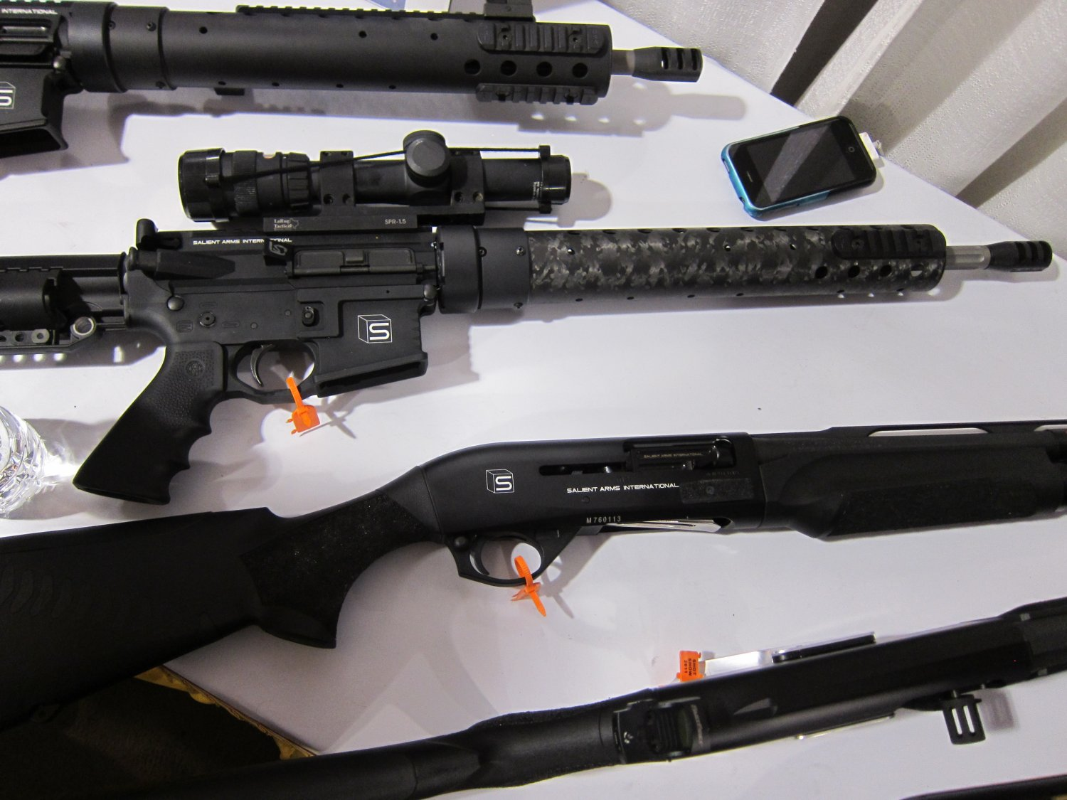Salient Arms International Custom AR 15 Rifles and Benelli M2 Super 90 Shotguns 1 <!  :en  >Salient Arms International (SAI) Custom Pistols, Rifles, and Shotguns for Competition and Carry Displayed at SHOT Show 2011 <!  :  >