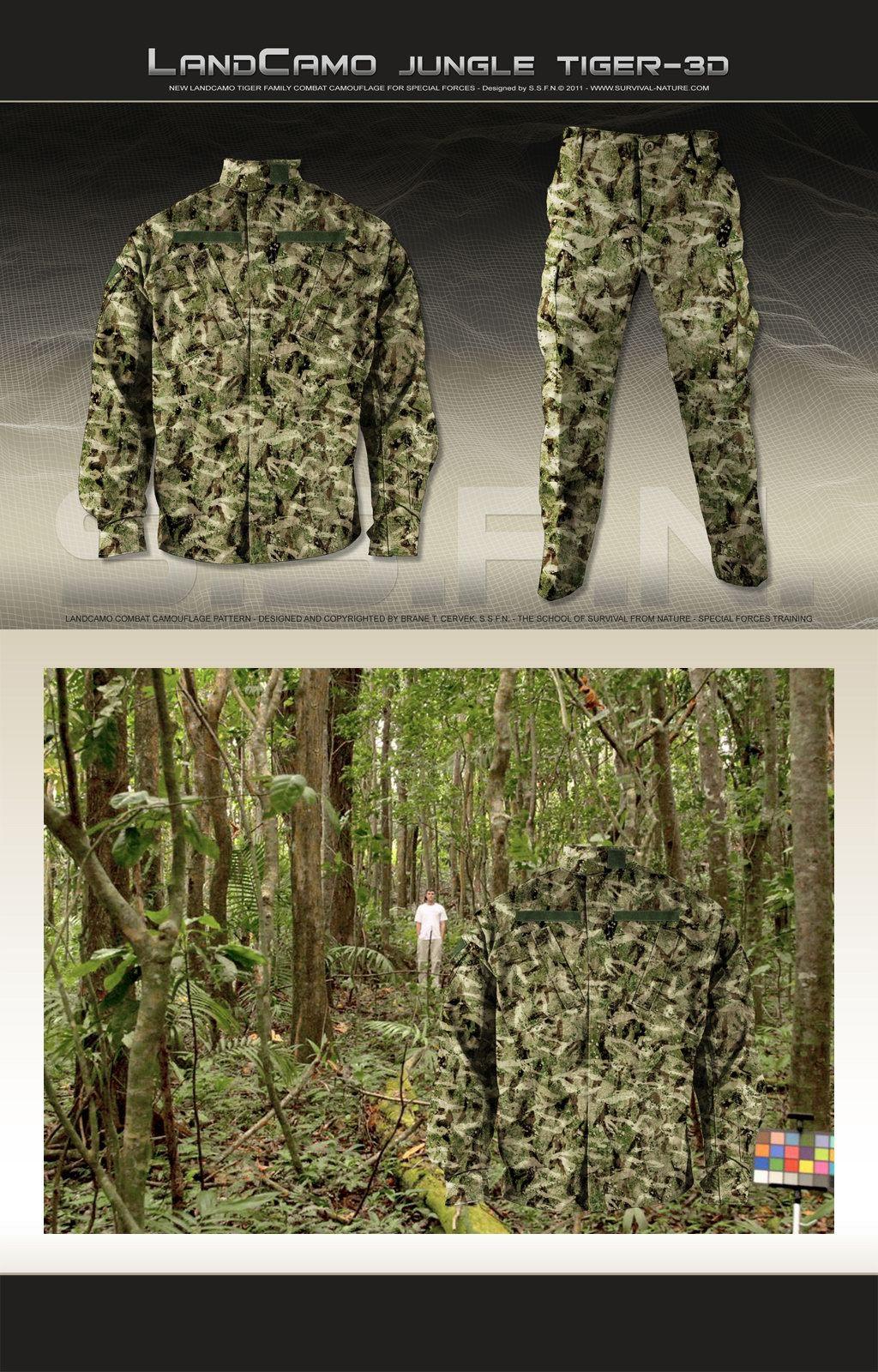 SSFN LandCamo Jungle Tiger 3D Combat Camouflage Pattern 1 <!  :en  >SSFN ExtremePro LandCamo Terrain Specific/Mission Specific Digital Combat Camouflage Patterns <!  :  >
