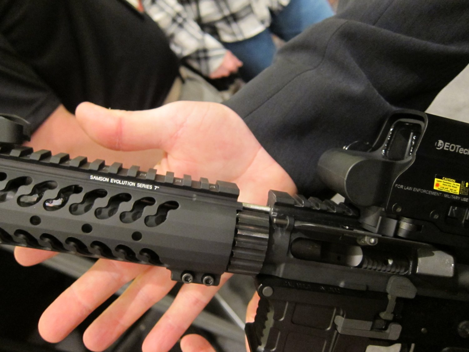 "Samson Evolution Series Rail System SHOT SHOW 2011 2 <!  :en  >Samson Evolution Series Rail System Outfitted Adams Arms 7.5"" PDW Piston AR SBR for Dynamic Close Quarters Battle (CQB) and Tactical Training: DARC Ready!<!  :  >"